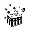 american voter voting during pandemic lockdown vector image