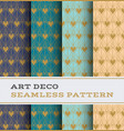art deco seamless pattern 50 vector image vector image