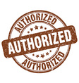 authorized brown grunge round vintage rubber stamp vector image vector image