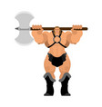 barbarian with ax strong warrior with weapons big vector image vector image