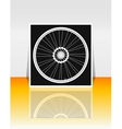 Bicycle wheel on flyer or cover vector image vector image