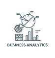 business analytics line icon business vector image vector image
