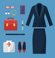 businesswoman clothes fashion female office vector image