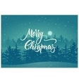 Calligraphic retro Christmas card design vector image vector image