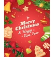Christmas gingerbread cookies and sweets vector image vector image