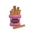 cinnamon spice brown roll sticks ingredient of vector image