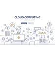 Cloud Computing Doodle Concept vector image vector image