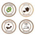 coffee time labels vector image vector image