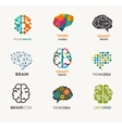 collection brain creation idea icons and vector image
