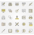 Content writing icons vector image vector image
