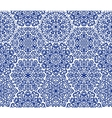 Dark blue ornamental pattern vector image