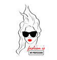 fashion design sketch woman in style pop art vector image vector image