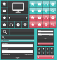 Flat web elements icons vector image vector image