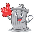 foam finger trash character cartoon style vector image vector image