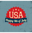 Fourth of July Poster vector image vector image