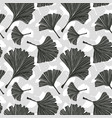 ginkgo biloba leaves seamless pattern vector image vector image