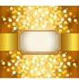 Golden invitation vector image vector image