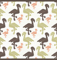 green brown and pink nature flamingo silhouette vector image