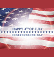 happy 4th of july independence day usa vector image vector image