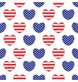 hearts with the united states flags colors vector image