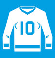 hockey jersey icon white vector image