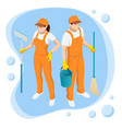 isometric washing and cleaning service concept vector image vector image