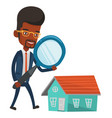 man looking for house vector image vector image