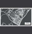 maputo mozambique city map in retro style outline vector image vector image