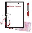 Medical insurance concept vector image vector image