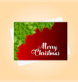merry christmas bokeh background vector image vector image