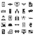 mind icons set simple style vector image vector image