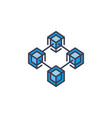 modern blockchain technology icon or design vector image