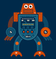 muscle robot vector image vector image