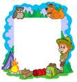 outdoor summer frame vector image