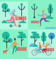 people spending their leisure time vector image