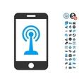 Radio Control Smartphone Icon With Free Bonus vector image