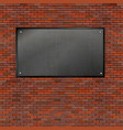 realistic brick wall iron frame vector image