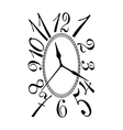Retro clock dial vector image