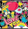 romantic love seamless pattern vector image