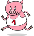 running piglet cartoon vector image vector image