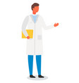 scientist laboratory assistant or doctor in a vector image