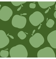 Seamless geen pattern background with apples vector image vector image