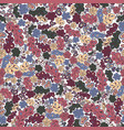 seamless pattern flower and leaf background in vector image