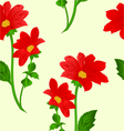 Seamless texture red Dahlia summer flower vector image vector image