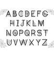 Set of letters with spider web vector image