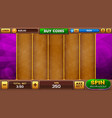 slots game background vector image vector image