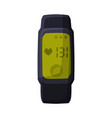 smartwatch with heart rate portable pulse tracker vector image
