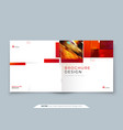 square brochure template layout design corporate vector image vector image