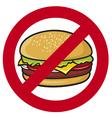 stop fast food vector image vector image