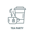 tea party line icon linear concept vector image